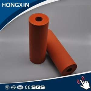 China Custom Red Color Aluminum Core Silicone Rubber Coating Rollers on sale