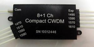 Quality Black 11 channel optic CWDM Mux for Dual fiber Bi - direction links for sale