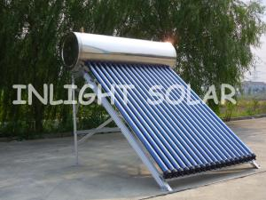 China High Absorption Pressurized Solar Water Heater 3.3 Borosilicate Glass With N/Al Coating Tube on sale