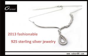 China Fashion 925 sterling silver necklace with silver pendant, OEM & ODM offer on sale