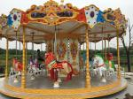 Carousel Type Amusement Park Facilities Corrosion Resistance Reinforced Plastics With 16 Seats