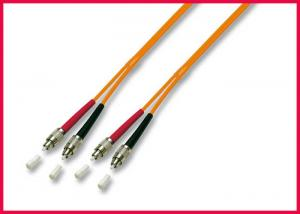 China 3.0mm OM2 FDDI - LC Zipcord Fiber Optic Patch Cable, Singlemode Orange Optic PVC Cable on sale