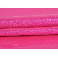 China Durable Synthetic Leather Glitter Pvc Fabric Rose Red Color For Making Bags on sale