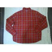 Casual Fleece Casual Mens Checked Shirt , Long Sleeve Shirts For Men