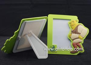 China Green simple mini photo frame custom cartoon animal image for animation company promotional picture frame on sale