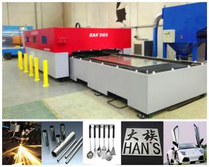 China Custom Shape Thin Metal Workpieces cnc laser cutter machine / sheet metal cutter on sale