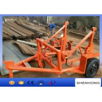 3 Ton Multifunction Cable Laying Drum Trailer , Cable Reel Trailer