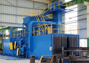 China Machine électrique de grenaillage de convoyeur de rouleau pour l'amélioration extérieure de tuyau d'acier on sale