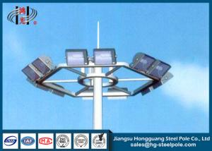 China Hot Roll Steel Polygonal Highway Lighting Pole Weather Resistance on sale