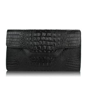 China Wholesale Crocodile Leather Clutch Bag Clutch Purse for Women on sale