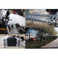 Steel Hercules Security Fencing Slanted Tubular Palisade Fences Ornamental Wrought Iron Panels