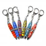 Steel Pocket Crystal Stone Mini Pen Key Chain With A Novelty Display