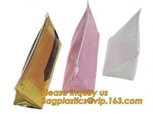 China Cosmetic Pink Slider Padded Bag/Silver Ziplockk Bag With Bubble,Padded Envelopes Cheap Aluminium Foil Ziplockk Holographic on sale