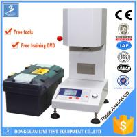 LCD Plastic Testing Equipments , PLC Melt Flow Rate Tester for ABS / Polystyrene