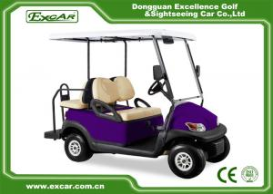 Purple Battery Operated Electric Golf Car 48v Mini Club Car 4 Seater