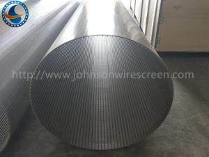 China Automatic Back Wash Drum Screen / Wire Wrap Mesh 80cm Height Free Sample on sale