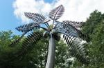 Stainless Steel Palm Tree Large Outdoor Sculpture Metal Garden Ornaments