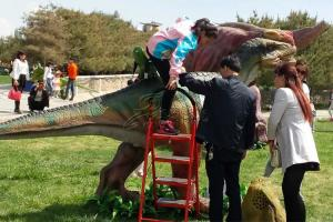 China Grand Central Park Interactive Ride Realistic Animatronic Dinosaur Show Kids on sale