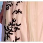 -линия платья вечера Беадингс плеча длины одного пола зрелые/Бридесмайдс одевает