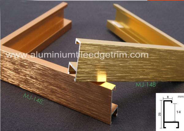 Light Weight Brushed Aluminium Picture Frames Gold Color Snap ...