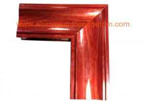 China Crystal Beach Aluminium Door Profiles , Aluminum Door Frame Profile Wood Grain Effect on sale