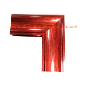 China Crystal Beach Aluminium Door Profiles , Aluminum Door Frame Profile Wood Grain Effect on sale