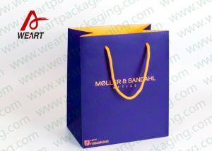 China Inside & Outside Custom Printed Personalised Paper Carrier Bags Business Promotional Use on sale