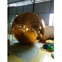 Round Golden PVC Inflatable Mirror Ball Double / Triple Stitches