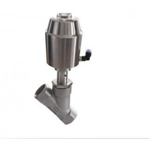 China Pneumatic Angle Seat Valve ( Stainless Steel Actuator ) Stainless Steel Sanitary Valves on sale