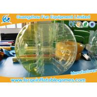TPU Inflatable Bumper Ball Half Color Human Sized Soccer Bubble