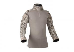 China Men Tactical Military Frog Combat Shirt,100% Polyester Camo T Shirt,Camo Long Sleeve Shirt on sale