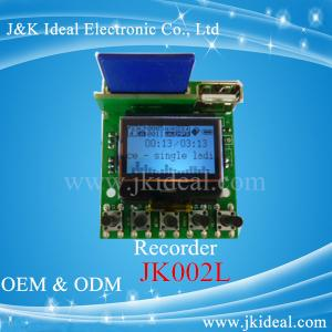 China JK002L LCD usb sd fm wma wav mp3 aux recorder mp3 player module supplier