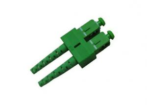 China Duplex Fiber Optic Connector , Green SC APC Fiber Connector for Test supplier