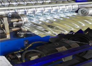China Aluminum Corrugated Roofing Sheet Roll Forming Machine Logo Embossment  Together on sale
