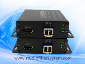 China 4K HDMI fiber converters for 1CH uncompressed 4096 × 2160 @ 30HZ 4K HDMI signal over 2LC Fiber to 10KM on sale