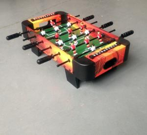 China Colorful Design Toy Mini Game Table MDF Kids Soccer Table With Big Plastic Corner Corner on sale