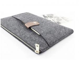 China hot items customized Felt Laptop Sleeve with leather bulk buy from China on sale