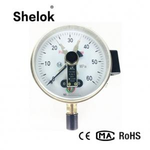 China Magnetic snap-action yxc-100 industrial bottom mounting types electric contact pressure gauge on sale