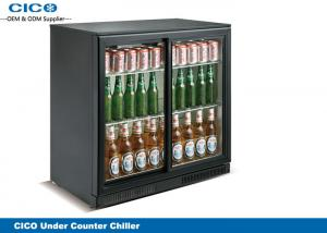 China Self Closing Black Beer Cooler Refrigerator , Under Cabinet Water Cooler 175 WAatt on sale