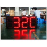 Digital Clock Remote Tri Color Gas Station LED Signs Ultra Thin High Brightness