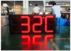 China Digital Clock Remote Tri Color Gas Station LED Signs Ultra Thin High Brightness on sale
