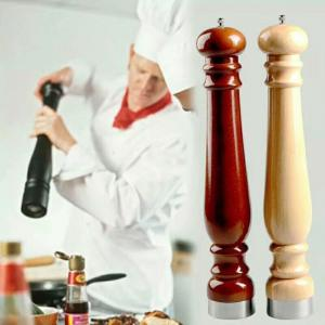 China China Factory wholesale manual wooden pepper mill and salt shaker on sale