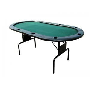 China 82 Inches Folding Poker Table , Durable Poker Card Table With Leather Edging on sale