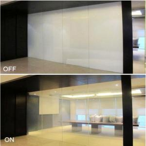 China 4+4mm 5+5mm 6+6mm tempered laminated Switchable Transparent Glass prices on sale