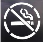 No Smoking PVC Stencil Wall Paint Stencil Not Easy Break Eco - Friendly Material