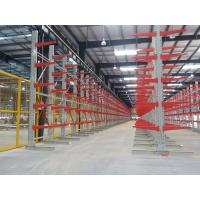 Double Arm Cantilever Warehouse Racks , Cantilever Pallet Racking Customized Width