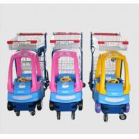 China Supermarket Plastic Kids Shopping Trolley Zinc Plated Metal Shopping Cart on sale