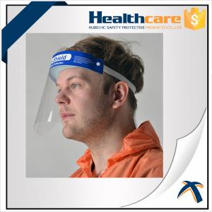 China Hospital Protection Disposable Full Face Shields , Safety Medical Face Shield Visor on sale