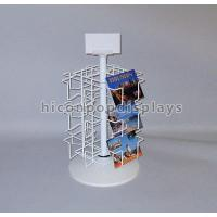 Retail Metal Spinner Display Rack Countertop , Spinning Book Rack For Postcard