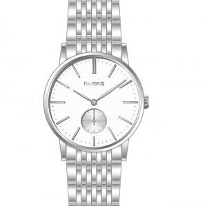 China Quartz Man fashion silver stainless steel watch, men's luxury watches on sale